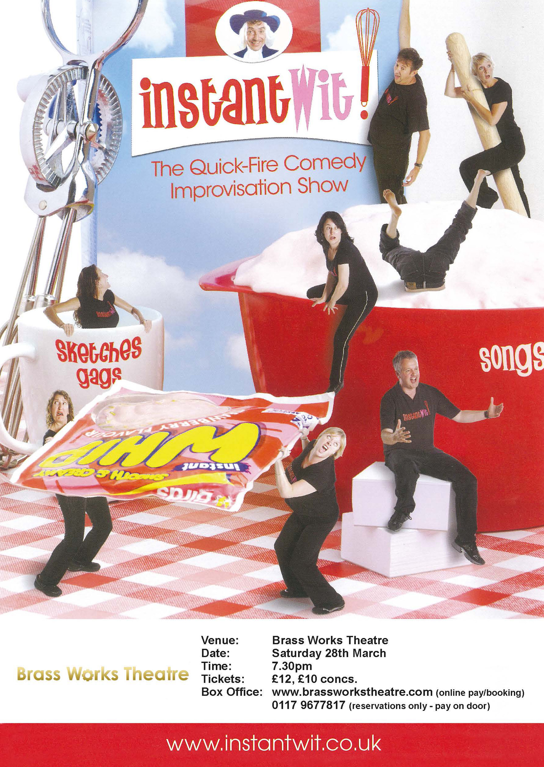 Instant Wit Instant Whip packet flyer